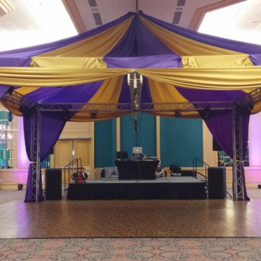 Purple and Yellow Tent